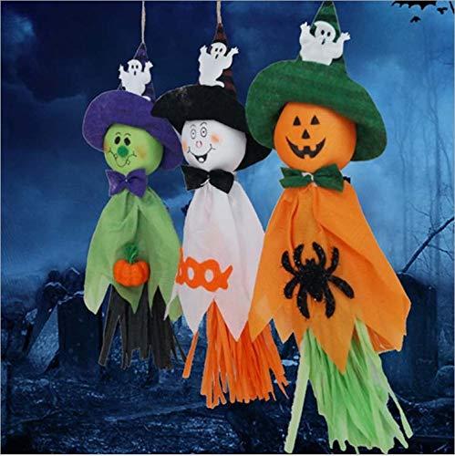 (IMBSB Halloween Hanging Ghost Dekoration Geist Hexe kürbis Vogelscheuche Tuch Puppe Halloween Party Supplies zubehör schmuck Wand tür Dekoration 1 stücke)