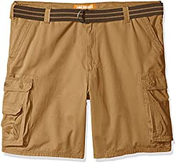 Lee Mens Big and Tall New Dungarees Belted Wyoming Cargo Short, Bourbon, 48W