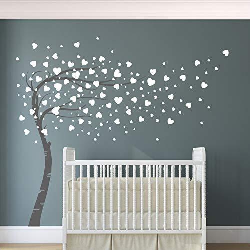 Designdivil Wandtattoo, Baum mit Herzen, Hochwertiger PVC-Aufkleber - Baum Decal Laptop