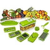 VR 12 In 1 Vegetable Cutter - Chopper, Grater, Slicer Dicer, Peeler - All In One (Green)