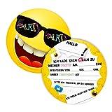 K! 12 Einladungskarten für Geburtstag und Partys, die Smiley Karten sind die perfekten Einladungen für Mädchen und Jungen zum Kindergeburtstag und Anderen Feiern (12 Stück)