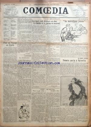 Les 10 Costumes Pires - COMOEDIA [No 3593] du 17/10/1922 - POUR