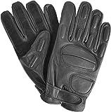 normani Security Lederhandschuhe mit Protektoren und schnitthemmender Kevlar Grifffläche Operator Farbe Black Größe XL