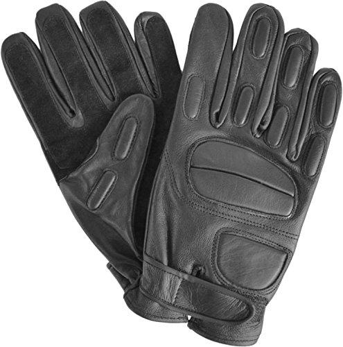 #Security Lederhandschuhe mit Protektoren und schnitthemmender Kevlar Grifffläche#