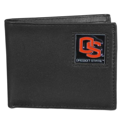 NCAA Oregon State Biber Leder-Brieftasche von Siskiyou Gifts CO, Inc. (State Oregon Leder)