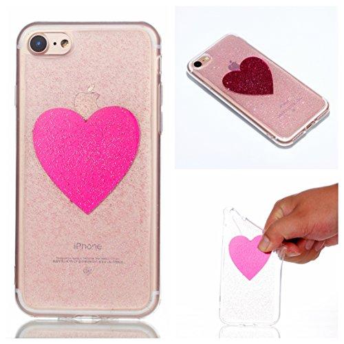 iPhone 7/iPhone 8 Hülle, Voguecase Silikon Schutzhülle / Case / Cover / Hülle / TPU Gel Skin Handyhülle Premium Kratzfest TPU Durchsichtige Schutzhülle für Apple iPhone 7/iPhone 8 4.7(EPOXY-Fünfzackig EPOXY-Die Liebe 08