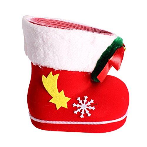 Andux Weihnachtsdekoration Kinder Geschenke Süßigkeiten Stiefel Kleine Geschenke Taschen Weihnachten Süßigkeiten Stiefel Urlaub Weihnachten Socken ETTGX-01 (L) Frauen-clearance Stiefel