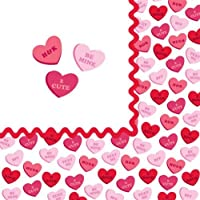 Creative Converting Sweet Greetings Valentine Paper Luncheon Napkins 18 Per Pack