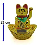 13cm Winkekatze Glückskatze Katze Maneki Neko Glücksbringer Deko 358 A - Starlet24
