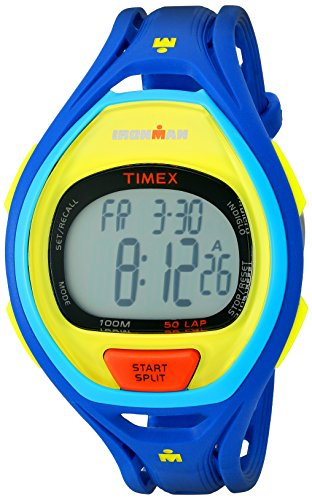 Timex Unisex TW5M01600 Ironman Sleek 50 Color Block Blue Resin Strap Watch -