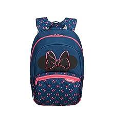 Samsonite Disney Ultimate 2.0 Children's Backpack S+, 35 cm, 10.5 Litre, Blue (Minnie Neon)