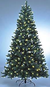 Hochwertiger künstlicher Weihnachtsbaum PE-Spritzguss mit Beleuchtung (312 LEDs, 14W), Höhe: 210cm / Ø140cm (PE-BM210)