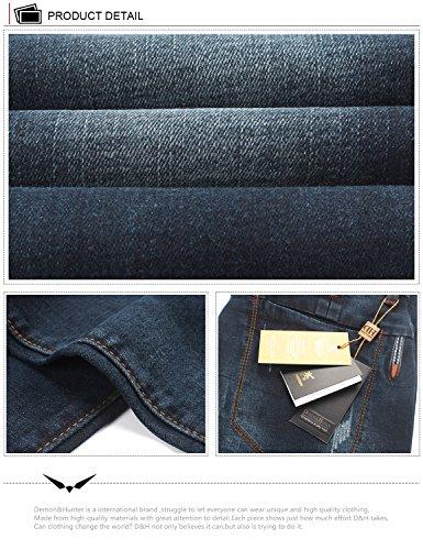Demon&Hunter 817 Serie Schlank Herren Jeanshose Jeans DH3033 x Blau