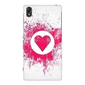 Premium Splash Heart Back Case Cover for Sony Xperia Z1