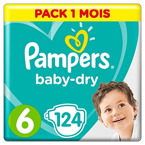 Pampers - Baby Dry - Couches Taille 6 (13-18 kg) (124 couches)