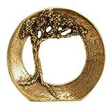 Bronze Skulptur - Baum »Vertraue deiner Kraft«, Stehplakette