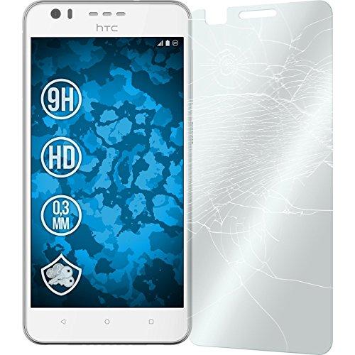 2 x Glas-Folie klar für HTC Desire 10 Lifestyle PhoneNatic Panzerglas für Desire 10 Lifestyle