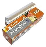 Badis Aluminium Folie für Haushalt, Küche, Gastronomie, Alufolie 300 m x 30 cm