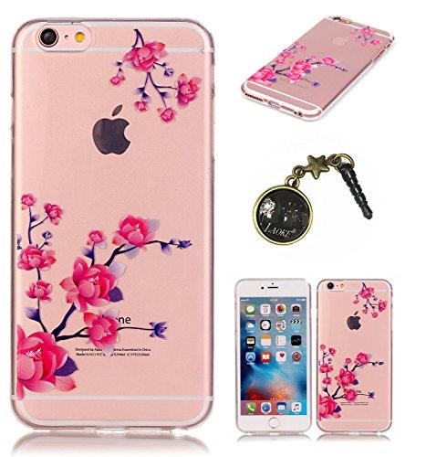 TPU Silikon Schutzhülle Handyhülle Painted pc case cover hülle Handy-Fall-Haut Shell Abdeckungen für Smartphone Apple iPhone 6 6S (4.7 Zoll)+Staubstecker (E5) 7