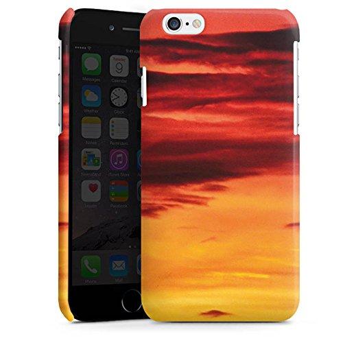 Apple iPhone 5s Housse Étui Protection Coque Soleil couchant Nuages Coucher de soleil Cas Premium brillant
