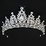 Alivier Strass Cristal Mariage diadème Couronne Peigne Princesse Pageant Couronne Couronne d'argent