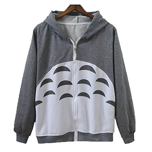 Unisex Anime Kapuzenpullover Sweatshirt Hemd Meine Nachbar Totoro Lange Ärmel Vlies Mit Kapuze Sweatshirt (Anime Kapuzen Sweatshirt)
