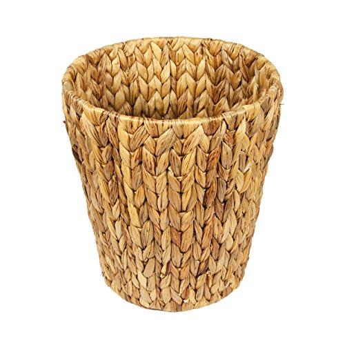 woodluv natürlicher Wasserhyazinthe Papierkorb Korb -