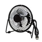 Mini USB Metal Fan is a light weight, table top fan for your home, office or wherever you choose. Made of high quality metal, the fan is the ideal companion on a hot day when you want to keep cool. Powered by USB with a 3.3 feet cable, you can have t...