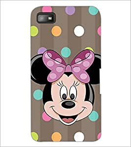 PrintDhaba Minnie Mouse D-1445 Back Case Cover for BLACKBERRY Z10 (Multi-Coloured)