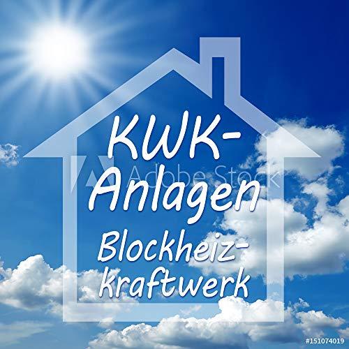 druck-shop24 Wunschmotiv: Kraft-Wärme-Kopplung KWK Anlage Blockheizkraftwerk BHKW #151074019 - Bild auf Alu-Dibond - 3:2-60 x 40 cm / 40 x 60 cm