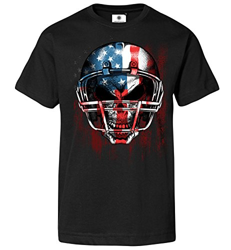 Customized by S.O.S Bedrucktes Herren T-Shirt American Football (XL, Schwarz)