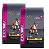 2 x 15 kg Eukanuba Adult Medium Breed Huhn Premium Hundefutter mittlere Rassen