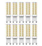 Glühbirne G9 LED, RANBOO, 7W(60 W Halogenlampe ähnlich), 450lm, AC 220–240 V, Nicht dimmbar, Nicht Flicker, 360 Grad Abstrahlwinkel, Warmweiß 3000K, Energiesparend Leuchtmittel, 10 Pack