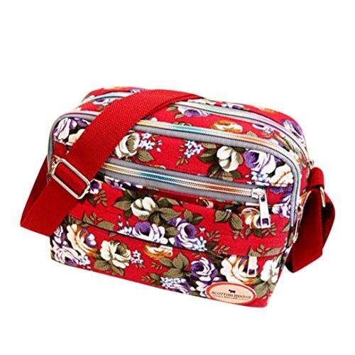 Women Leinwand Crossbody Bag Schultertasche Messenger Bag Kosmetiktasche Frauen Damen Tasche Handtasche Retro und klassisches Design ()