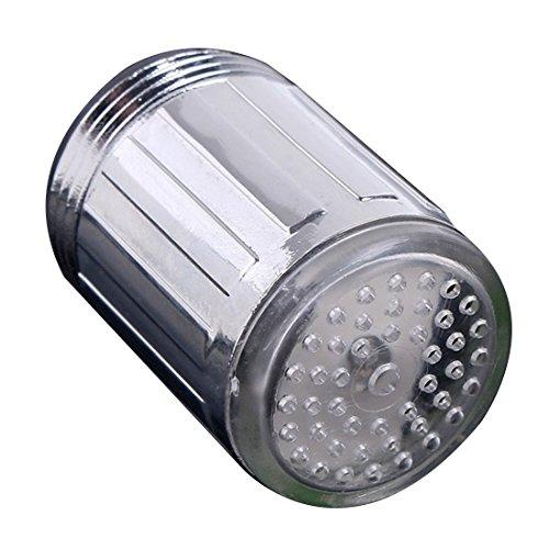 Wasser Hahn Licht LED bunte Wechsel Glühen Dusche Stream Adapter Farbe Werkzeuge Farben des Regenbogens (Licht Badezimmer Wasserhahn)