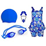 Golden Girl Swimming Kit for Girls (Blue_8-9 Years)