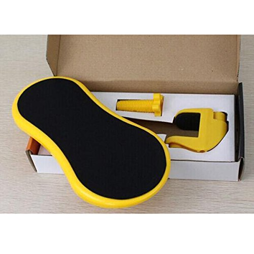 Antideslizante Alfombrilla De Ratón Mat Con Gel De Descanso De La Muñeca Textuales Giratorio (29 * 13 * 12 Mm),Yellow