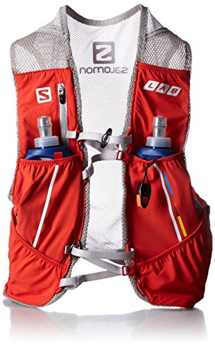 Salomon S-Lab Sense Set Racing Red/Alu - Zaino, Unisex, Rosso, M/L