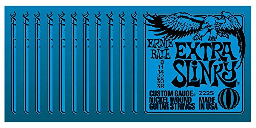Ernie ball 2225 extra slinky set cordiere (confezione da 12 mute)