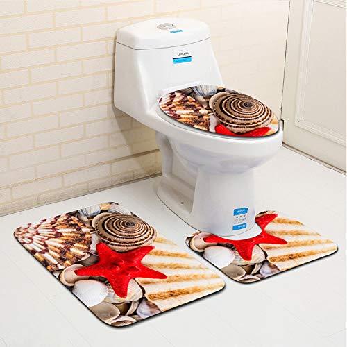 WWDDVH Badezimmer-Matte Set Mikrofaser Teppich Für Bad Wc Deckel Badmatte Für Heimtextilien Absorbent Badezimmer Teppiche Set-O-Epcs Epc-set