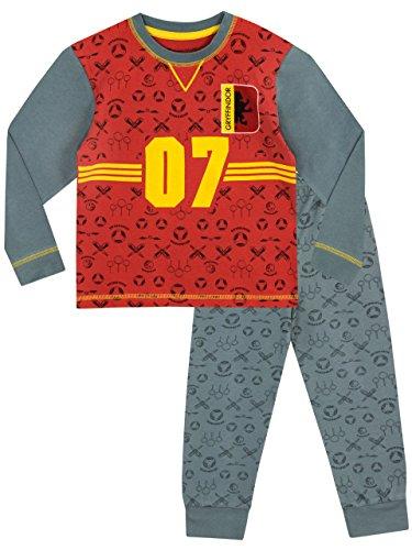Harry Potter Jungen Quidditch Schlafanzug 158cm (Team-pyjama-hose-muster)
