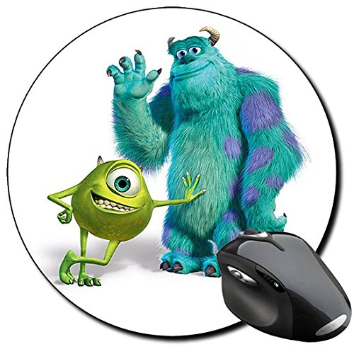 Monsters INC Mike Wazowski & Sulley Mauspad Round Mousepad PC