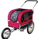 Doggyhut Medium Pet Dog Bicycle Trailer & Jogging Stroller in RED 70301-D01