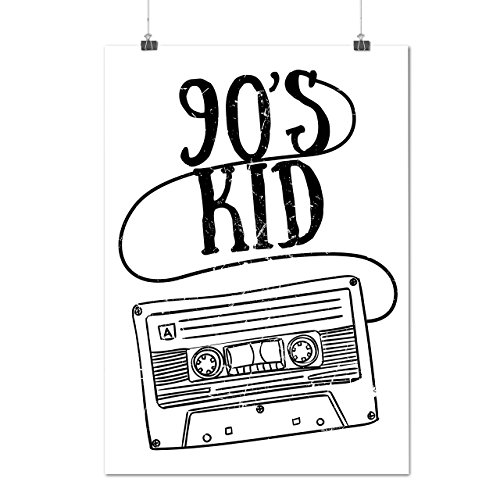 90er Jahre Kind Mode Alt Schule Mattes/Glänzende Plakat A3 (42cm x 30cm) | (Kostüme 90's Rock Stars)