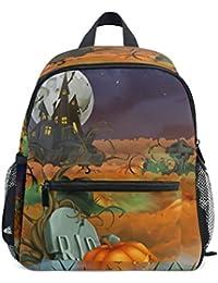 Preisvergleich für COOSUN Happy Halloween Hintergrund Mini Kinderrucksack Pre-School Kindergarten Kleinkind-Tasche Mehrfarbig