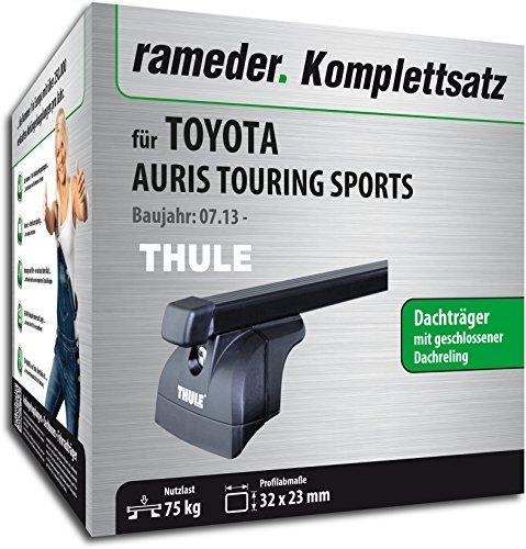 Rameder Komplettsatz, Dachträger SquareBar für Toyota AURIS TOURING SPORTS (116492-11280-1)