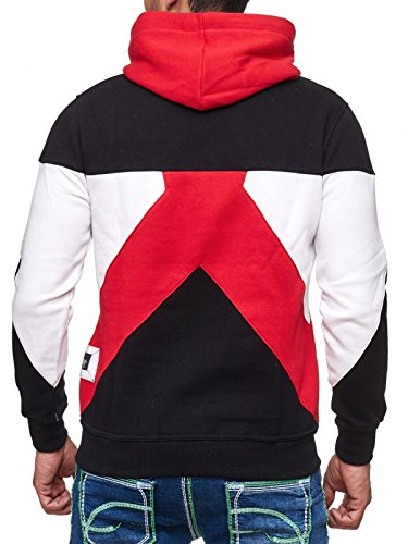 19042v2 Kapuzenpullover Herren Kapuze Pullover Sweat Sweatshirt Hoodie Rot