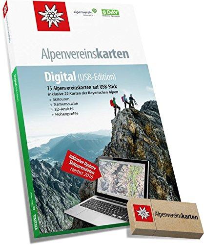 Price comparison product image Alpenvereinskarten Digital: Sämtliche Alpenvereinskarten der Ostalpen auf USB-Stick Version 4: 75 Alpenvereinskarten auf USB-Stick