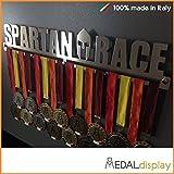 Spartan Race MEDALdisplay Medaillen-Aufbewahrung für die Wand, 450 mm x 90 mm x 3 mm