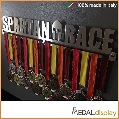 Spartan Race |-Medaillen Spartan Race/Medagliere Wanduhr medaldisplay Medal Hanger Spartan Race, 450 mm x 90 mm x 3 mm